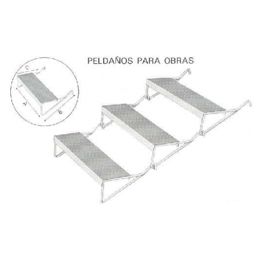 PELDAÑO OBRA (HASTA 100 UDS.)